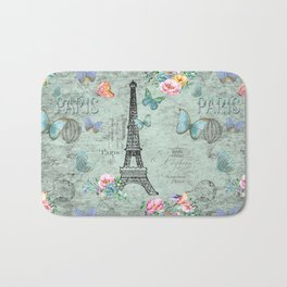 Paris - my love - France Eiffeltower Nostalgy- French Vintage Bath Mat