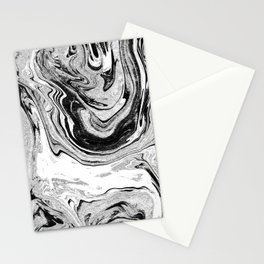 Masuki - black and white minimal spilled ink marbled paper marble texture marbling marble painting Stationery Cards