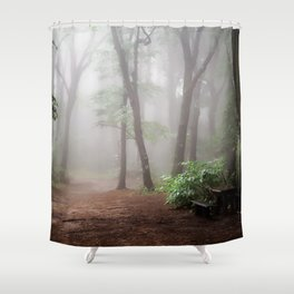Misty Woods #adventure #photography Shower Curtain