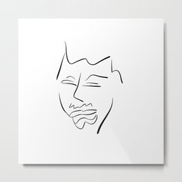 Man With Gasping Grin Metal Print