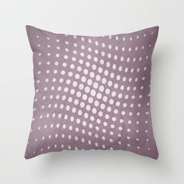 Halftone Flowing Circles in Musk Mauve Throw Pillow