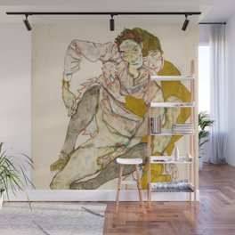 "Egon Schiele ""Seated Couple"" Wall Mural"