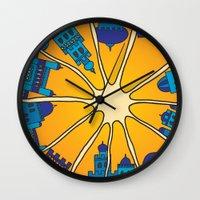 morocco Wall Clocks featuring Morocco by Galina Khabarova