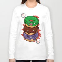 donut Long Sleeve T-shirts featuring Donut by jeff'walker