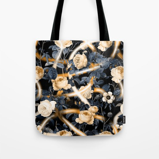 Lights and flowers garden Tote Bag