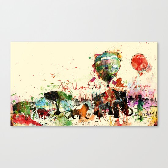 World as One : Human Kind Canvas Print
