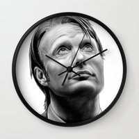 hannibal Wall Clocks featuring Hannibal  by Mutemouia