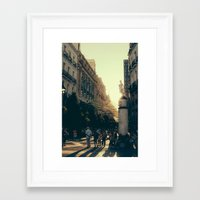 madrid Framed Art Prints featuring Madrid by Mario Pantoja