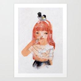 Le Mésange Art Print