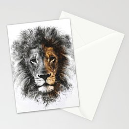 Lion Head Stationery Cards