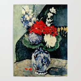 """Paul Cezanne """"Delft vase with flowers"""" Poster"""