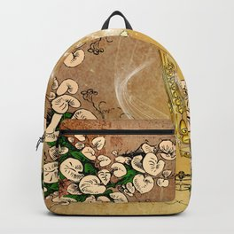 Saxophone with flowers Backpack