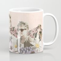 niall horan Mugs featuring Niall Horan + Flowers by Ladsandstuff