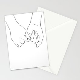 Pinky Promise I Love You Forever Line Art Minimal Stationery Cards