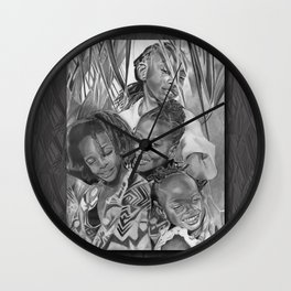K.A.A.A. (featuring the beautiful children of Ayesha NuRa and Na'imah Delpeche) Wall Clock