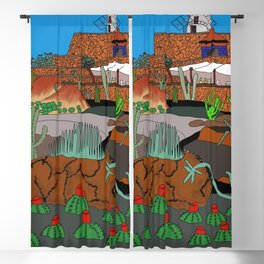 The Cactus Garden, Lanzarote, Canary Islands, Spainen, Lanzarote, Canary Islands, Spain Blackout Curtain