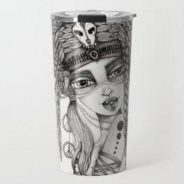 JennyMannoArt Graphite Drawing/Aiyana Travel Mug