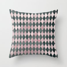 Marble Harlequin Throw Pillow
