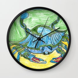 Blue Crusher Wall Clock