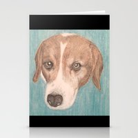 beagle Stationery Cards featuring Beagle by Thomas Whitfield