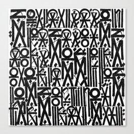 TYPO--ART Canvas Print