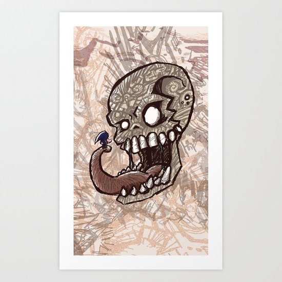 Little piece of my heart for the Giant skull Art Print