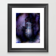 the haunted house Framed Art Print