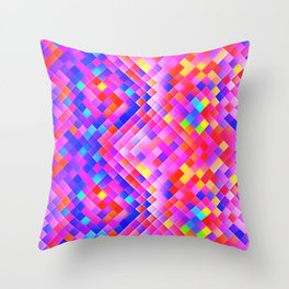 Happy Bright Square Throw Pillow