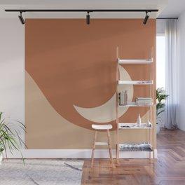 Moonrise Minimalism - Orange Wall Mural