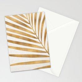 Metallic Gold Palm Leaf Stationery Cards