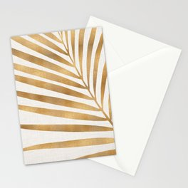 Metallic Gold Palm Leaf Stationery Cards