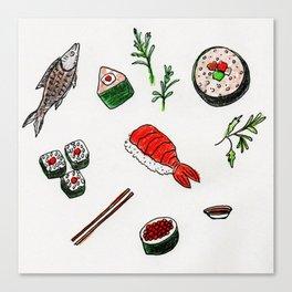 Scrumptious Sushi Canvas Print