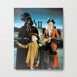 Darth Vader in Mary Poppins Metal Print