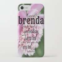 scripture iPhone & iPod Cases featuring Brenda scripture by KimberosePhotography