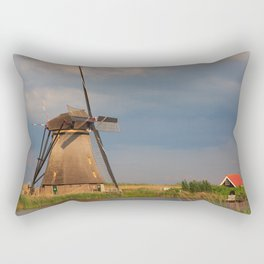 Windmill Of Kinderdijk Rectangular Pillow