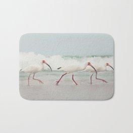 Three Little Ibis All in a Row Bath Mat