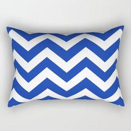 Egyptian blue - blue color - Zigzag Chevron Pattern Rectangular Pillow