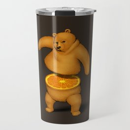 Orange Bear Travel Mug