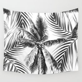 South Pacific palms II - bw Wall Tapestry