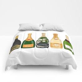 Champagne Bottles Comforters