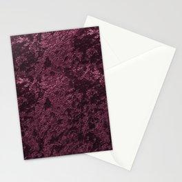 Deep Burgundy wine velvet Stationery Cards