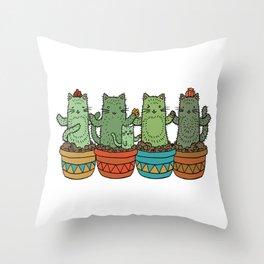 Catcus Garden (Single Row) Throw Pillow