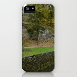 Castle moat around the Czech city of Krumlov iPhone Case