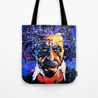 einstein Tote Bags featuring Einstein by FEENNX