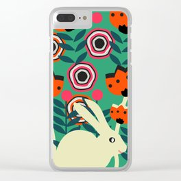 Little bunny in spring Clear iPhone Case