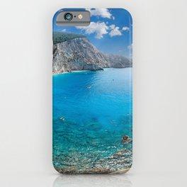 The spectacular Porto Katsiki in Lefkada, Greece iPhone Case