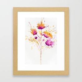 Blot Flowers Framed Art Print