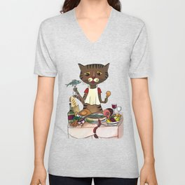'Owen's Second Breakfast' Unisex V-Neck