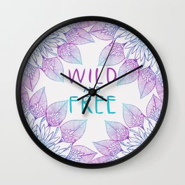 Wild an Free Wall Clock