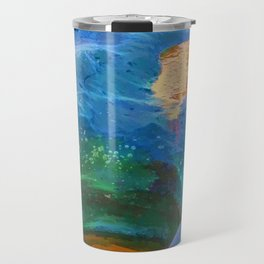 Abstract beautiful rock pools in the late afternoon Travel Mug